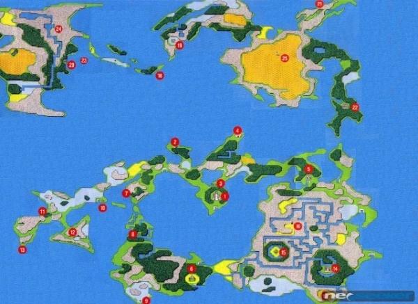 World Map FFI Final Fantasy Wiki Neoseeker