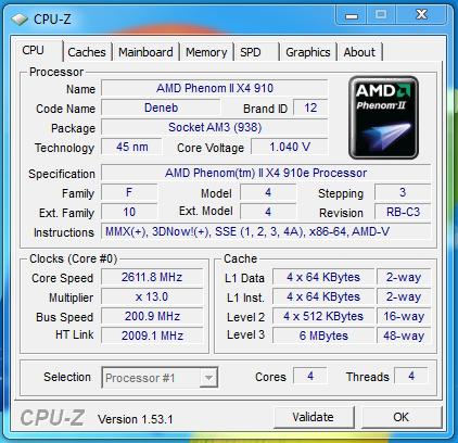 WinRAR & Cinebench - AMD Athlon II X4 635 & Phenom II X4