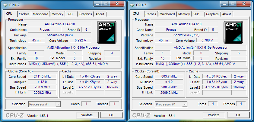 Overclocking Undervolting Amd Athlon Ii X4 640 X4 610e Review Page 11