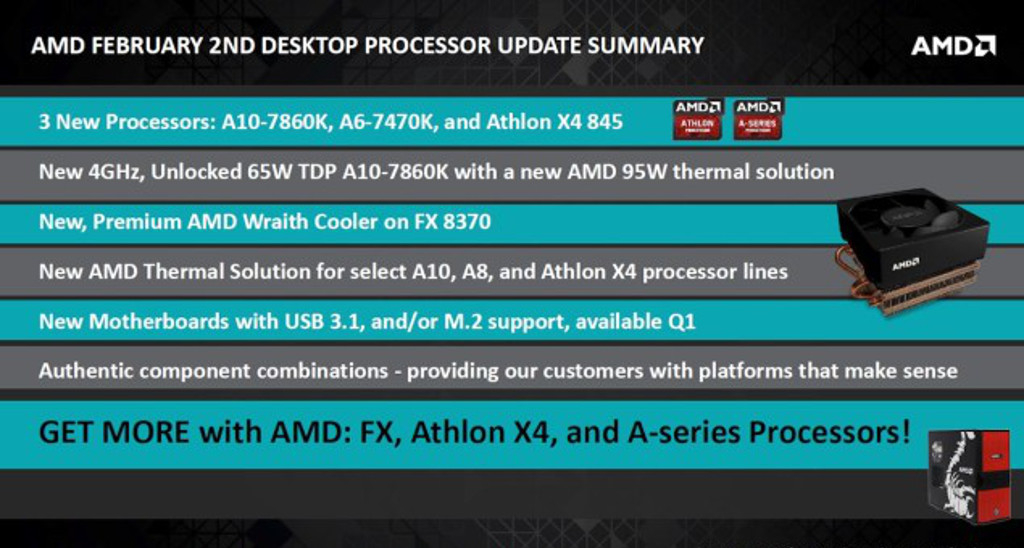 All of these factors will give the newer CPUs a definitive advantage so I don't expect the Athlon X4 845 to perform better, just consistent with its speed ...