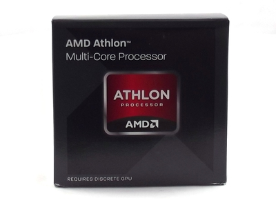 After removing the Athlon X4 845 from the box, we find the inner cardboard packaging for the cooler and red-colored fan.
