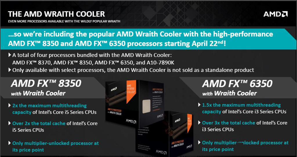 AMD FX 8350 Black Edition CPU and Wraith Cooler Review