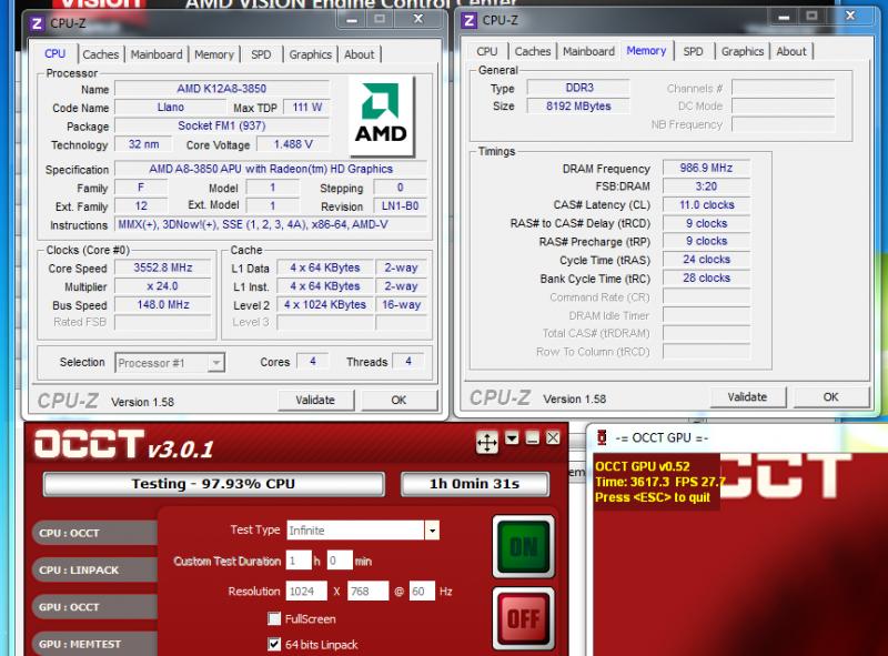 Overclocking - AMD A8-3850