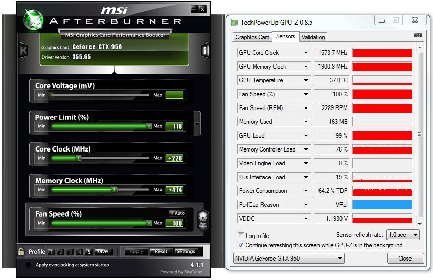 msi nvidia geforce gtx 950 drivers