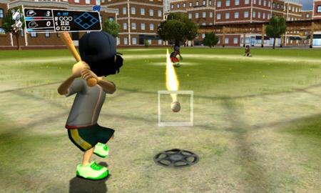 Having characters scramble around a planter or wall in a desperate attempt  to stop a runner from reaching home inspires the same energy as in a  regular MLB ... - Backyard Sports: Sandlot Sluggers (Wii) Review - Swinging For The