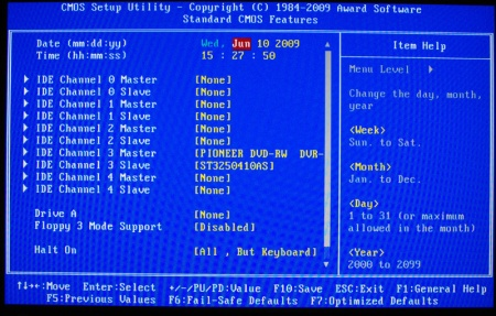 Gigabyte MA770T-UD3P Motherboard Review - Page 3 - The BIOS