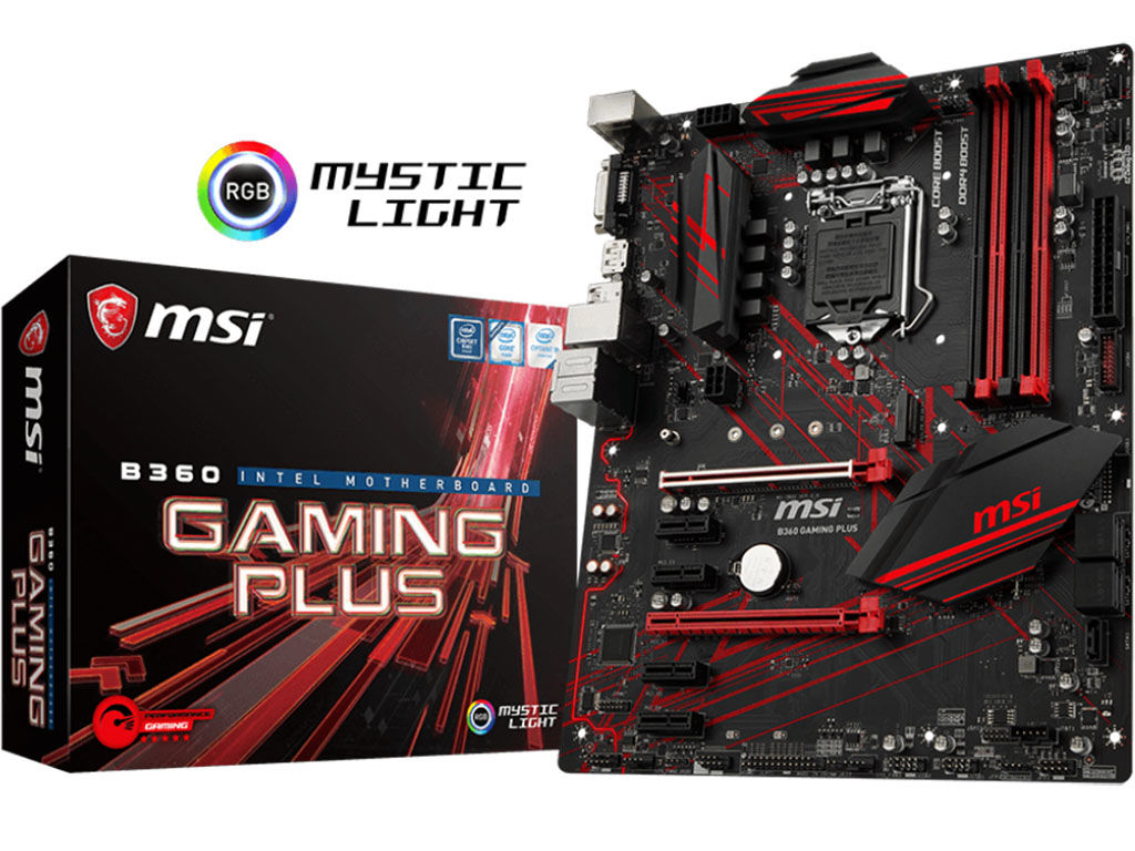 MSI B360 Gaming Plus Motherboard Review - MSI B360 Gaming Plus