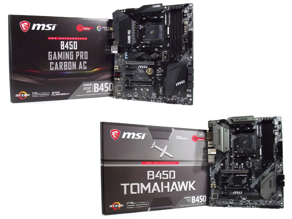 MSI B450 Gaming Pro Carbon AC & Tomahawk Review