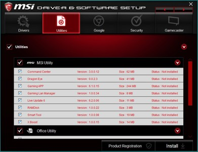 MSI X370 XPower Titanium Motherboard Review - Page 3 - Software