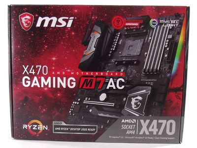 MSI X470 Gaming M7 AC Review - Introduction / Packaging
