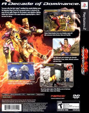 Tekken 5 Ps2 Back Cover