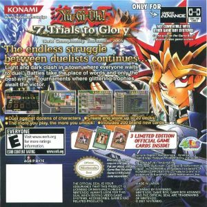 Yu Gi Oh 7 Trials To Glory Gba Back Cover