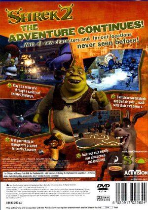 Shrek 2 Ps2 Back Cover
