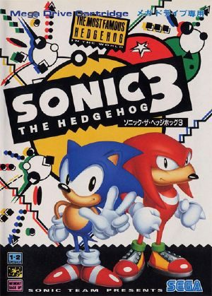 Sonic The Hedgehog 3 Genesis Front Cover