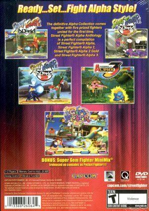Street Fighter Alpha Anthology Ps2 Back Cover