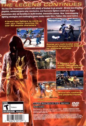 Tekken 4 Ps2 Back Cover