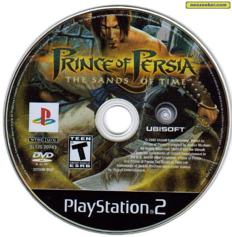Prince Of Persia The Sands Of Time Ps2 Media Cover