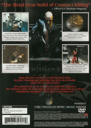 Hitman 2 Silent Assassin Ps2 Back Cover