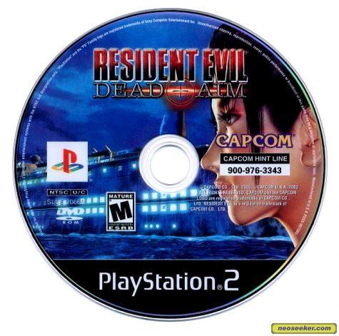Resident Evil Dead Aim Ps2 Media Cover