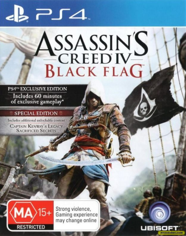 Assassin S Creed Iv Black Flag Ps4 Front Cover