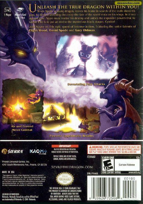 The Legend of Spyro: A New Beginning - GC - NTSC-U (North America)