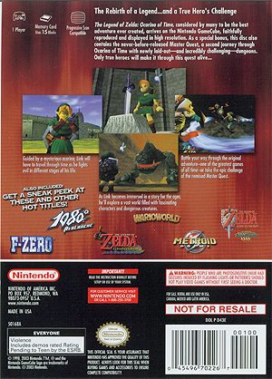 The Legend of Zelda: The Ocarina of Time Master Quest GC