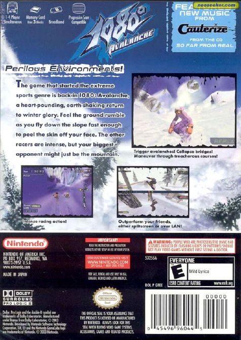 1080°: Avalanche - GC - NTSC-U (North America)