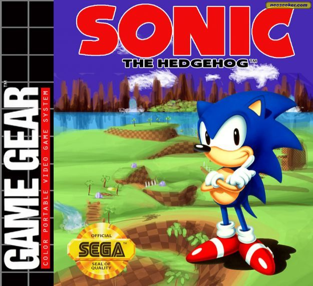 Sonic The Hedgehog Gamegear Front Cover