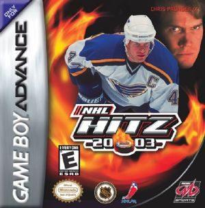 NHL Hitz 20-03 - GBA - NTSC-U  North America Nhl 2003 Cover