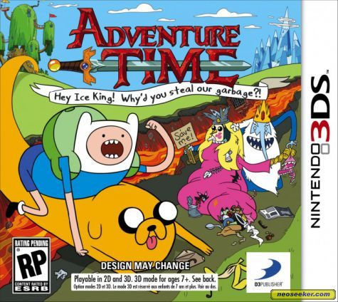 Adventure Time: Hey Ice King! Why'd You Steal Our Garbage?! - 3DS - NTSC-U (North America)