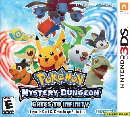Pok 233 Mon Mystery Dungeon Gates To Infinity 3ds Front Cover