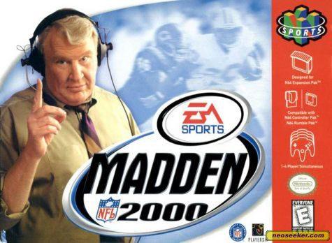 Madden NFL 2000 - N64 - NTSC-U (North America)