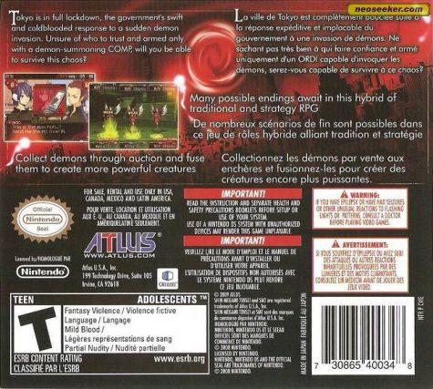Shin Megami Tensei: Devil Survivor - DS - NTSC-U (North America)