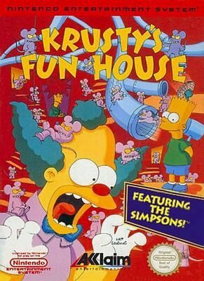 The Simpsons: Krusty's Funhouse - NES - NTSC-U (North America)