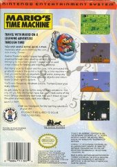 Mario's Time Machine NTSC-U (North America) back cover box shot