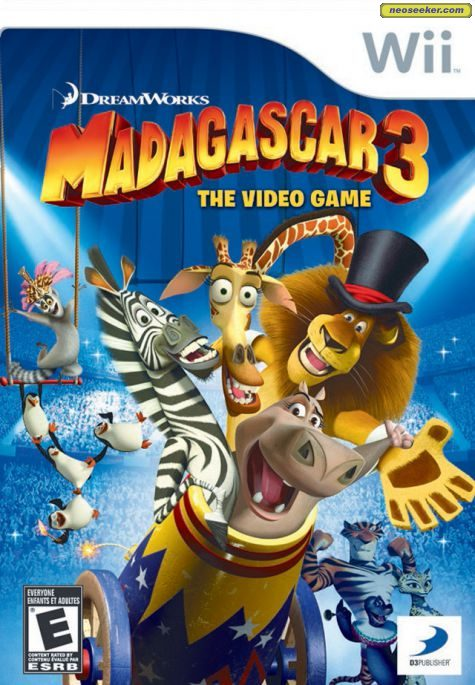 Madagascar 3: The Video Game - Wii - NTSC-U (North America)