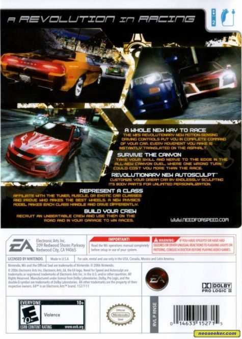 Need For Speed Carbon - Wii - NTSC-U (North America)