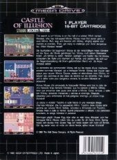Castle of Illusion Starring Mickey Mouse PAL (Europe) back cover box shot