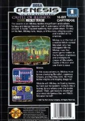 Castle of Illusion Starring Mickey Mouse NTSC-U (North America) back cover box shot