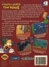 Krusty's Super Fun House NTSC-U (North America) back cover box shot