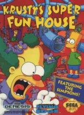 Krusty's Super Fun House NTSC-U (North America) front boxshot