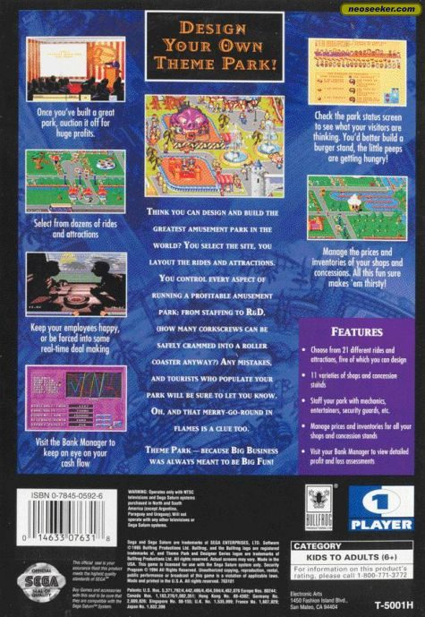 Theme Park - SATURN - NTSC-U (North America)