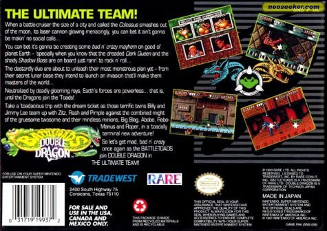 Battletoads & Double Dragon - SNES - NTSC-U (North America)