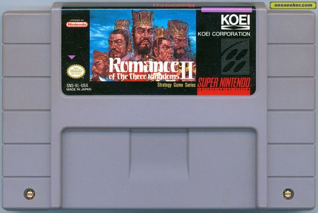 Romance of the Three Kingdoms II (Import) SNES Media cover
