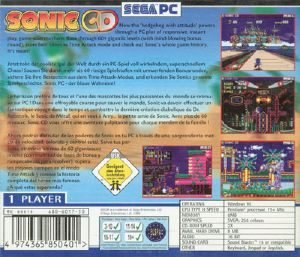 sonic cd pc back cover