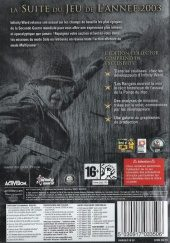 Call of Duty 2 PAL (Europe) back cover box shot