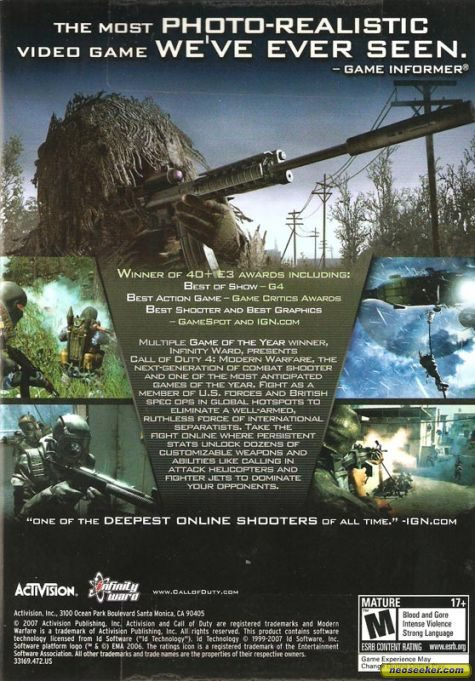 call of duty modern warfare 2 cover pc. Call of Duty 4: Modern Warfare