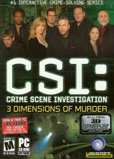 CSI: 3 Dimensions of Murder - PC - NTSC-U (North America)