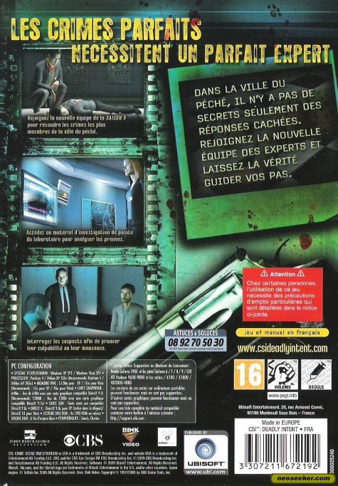 CSI: Deadly Intent  - PC - PAL (Europe)