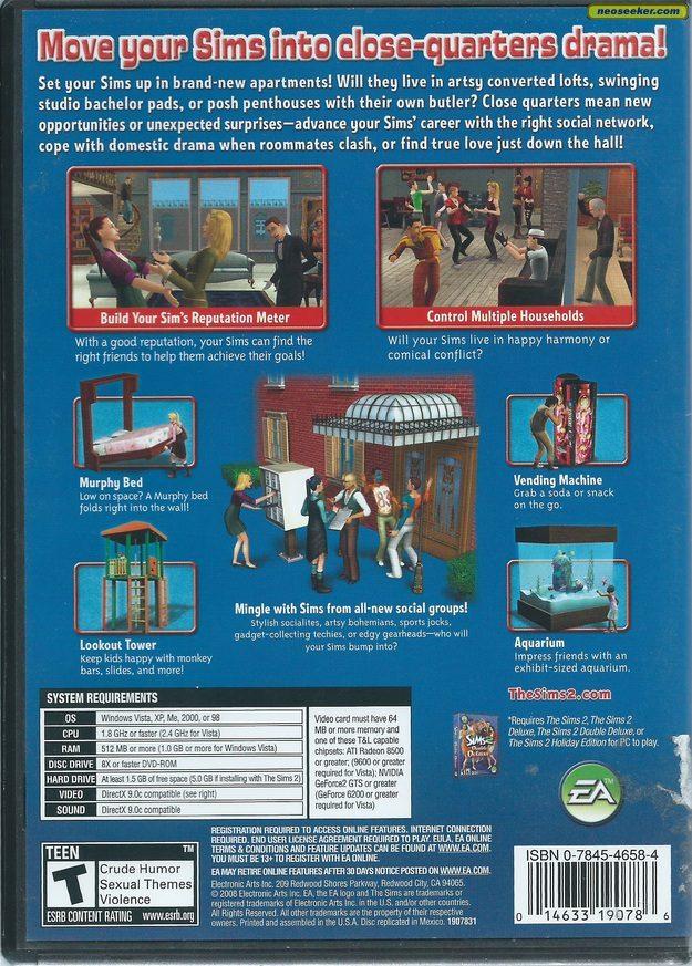 The Sims 2 Apartment Life Pc Ntsc U North America